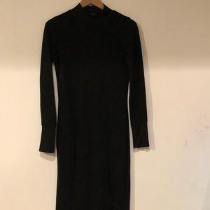 Zara Black Bodycon Cotton Dress - L